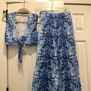 Reformation Two Piece Set Tie Dye